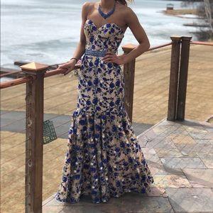 Jovani strapless mermaid dress